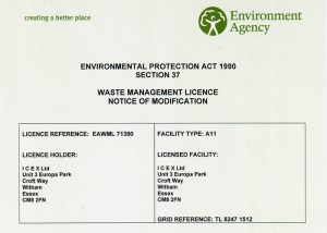Waste Management Licence