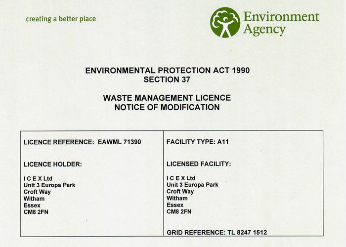 Waste Management Licence